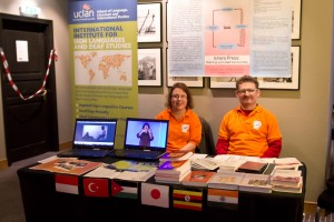 Claire Perdomo and Simeon Hart running the iSLanDS stall at the BDA conference in November 2012