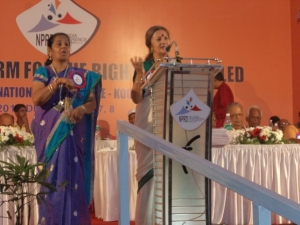 Smt. Brinda Karat, former Member of Parliament, speaks at the conference