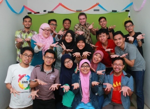 Members of the Indonesian Deaf community at yesterday's launch in West Java