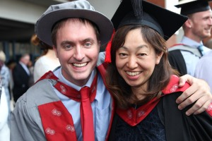 Nick and Keiko at the ceremony at Preston Guild Hall on Thursday 16 July