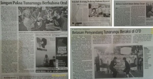 Press coverage of activities in Bekasi and Solo
